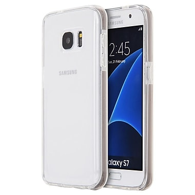 Insten Agua Clear Invisible Bumper Ultra Thin Inner Frame TPU Case For Samsung Galaxy S7 - Clear/Smoke
