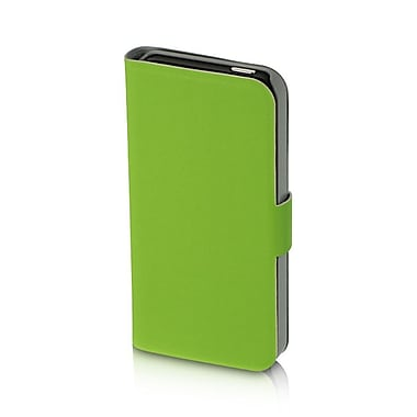 Insten Book-Style Leather Fabric Cover Case w/stand For Apple iPhone SE / 5 / 5S - Green