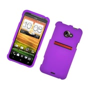 Insten Rubberized Hard Snap-in Case Cover for HTC EVO 4G LTE - Purple
