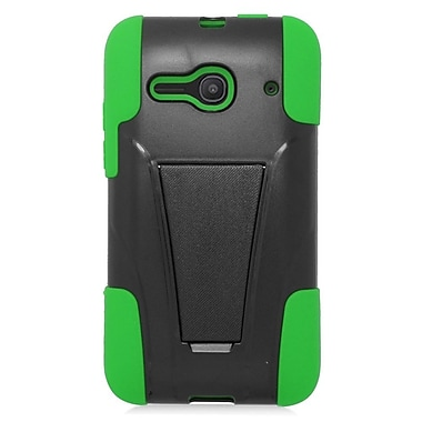 Insten Hard Dual Layer Plastic Silicone Case For Alcatel One Touch Evolve 2 - Black/Green