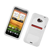 Insten Dual Layer Hybrid Hard Snap-in Case Cover for HTC EVO 4G LTE - White