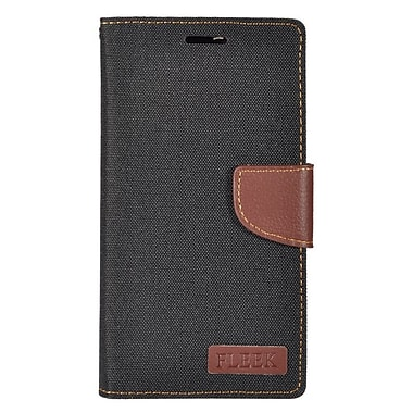Insten Wallet Leather Stand Case with Card slot & Photo Display For Alcatel One Touch Fierce XL - Black/Brown