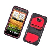 Insten Dual Layer Hybrid Hard Snap-in Case Cover for HTC EVO 4G LTE - Black/Red