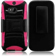 For HTC One 2 / HTC M8 Side Stand Cover With Holster - Black