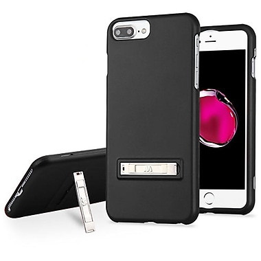 Insten Hard Dual Layer Rubber Silicone Case w/stand For Apple iPhone 7 Plus / 6s Plus / 6 Plus - Black