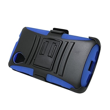Insten Advanced Armor Hybrid Stand PC/Silicone Holster Case Cover for LG Google Nexus 5 D820 / D821 - Black/Blue