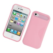 Insten Two-Tone/NightGlow Jelly Hybrid Hard Silicone Case Cover For Apple iPhone 4 / 4S - Pink