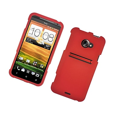 Insten Rubberized Hard Snap-in Case Cover for HTC EVO 4G LTE - Red