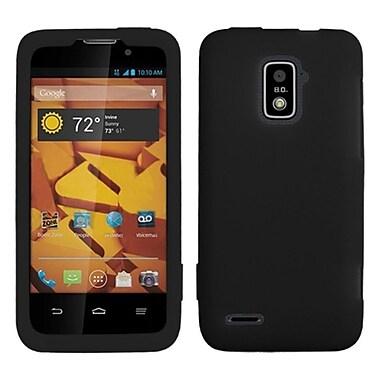Insten Solid Silicone Skin Case Cover Black For ZTE Warp LTE N9510