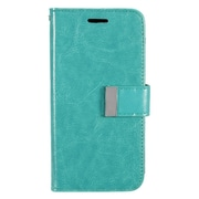 Insten Folio Leather Fabric Case w/card holder For LG G5 - Mint Green