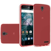 Insten Frosted TPU Cover Case For ZTE Warp 7 - Red