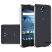 Insten Frosted Rubber Case For ZTE Avid / Cheers / Trio - Smoke