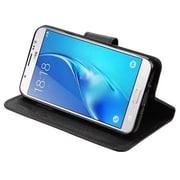 Insten Liner MyJacket Flip Wallet Credit Card Leather Stand Case For Samsung Galaxy J7 (2017) / Sky Pro - Black