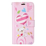 Insten Bear PU Leather Image Pouch Flip Wallet Credit Card Stand Case For Samsung Galaxy S8+ S8 Plus