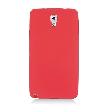 Insten Silicone Rubber Cover Case For Samsung Galaxy Note 3 - Red