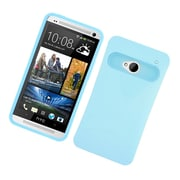 Insten Two-Tone/NightGlow Jelly Hybrid Hard Silicone Case Cover For HTC One M7 - Blue