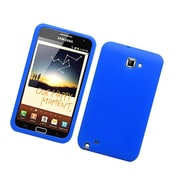 Insten Silicone Rubber Cover Case For Samsung Galaxy Note LTE - Blue