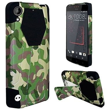 Insten Camouflage Hard Dual Layer Plastic Silicone Case w/stand For HTC Desire 530 - Green/Black