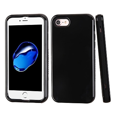 Insten Verge Hard Hybrid Rubber Silicone Cover Case For Apple iPhone 7 - Black