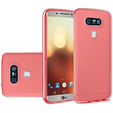 Insten Solid TPU Crystal Candy Skin Gel Rubber Back Case Cover For LG G6 - Red