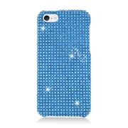Insten Hard Rhinestone Case For Apple iPhone 5C - Light Blue