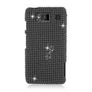 Insten Hard Diamond Cover Case For Motorola Droid Razr Maxx HD - Black