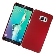 Insten Hard Rubber Coated Case For Samsung Galaxy S6 Edge Plus - Red