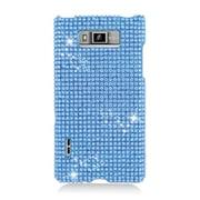 Insten Hard Diamante Case For LG Splendor US730 / Venice LG730 - Light Blue
