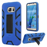 Insten Silicone Dual Layer Rubber Hard Cover Case w/stand For Samsung Galaxy S7 - Blue/Black