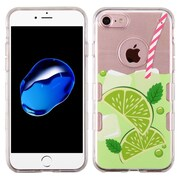 Insten Phoenix-tail Flowers TPU Case For Apple iPhone 7 - Green