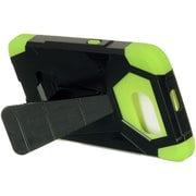 Insten Hybrid Triangle Dual Layer Stand Shockproof Case For Samsung Galaxy S6 - Black/Green