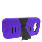 Insten Dual Layer Rubber Hard Case with stand For ZTE Imperial II - Purple/Black