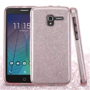 Insten Hard Dual Layer Glitter TPU Cover Case For Alcatel Stellar / Tru - Pink