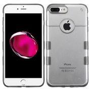 Insten Hard Crystal TPU Cover Case For Apple iPhone 7 Plus - Clear/Gray