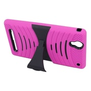 Insten Wave Symbiosis Gel Hybrid Rubber Hard Stand Case For Sony Xperia T2 Ultra - Hot Pink/Black