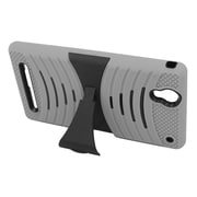 Insten Wave Symbiosis Gel Hybrid Rubber Hard Stand Case For Sony Xperia T2 Ultra - Gray/Black
