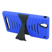 Insten Wave Symbiosis Soft Dual Layer Rubber Hard Stand Case For Sony Xperia T2 Ultra - Blue/Black