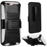 Insten Hard Dual-Layer Holster Case with Kickstand & Belt Clip for iPhone 7 - Black/White