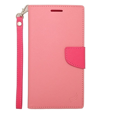 Insten Book-Style Leather Case with Lanyard & Photo Display For ZTE Grand X Max - Pink/Hot Pink