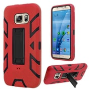 Insten Silicone Hybrid Rubber Hard Case w/stand For Samsung Galaxy S7 - Red/Black