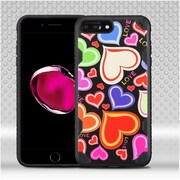 Insten Hearts Hard TPU Case For Apple iPhone 7 Plus - Colorful/Black