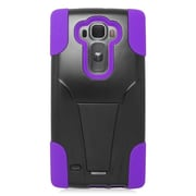 Insten Hard Hybrid Plastic Silicone Case with stand For LG G Flex 2 - Purple