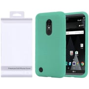 Insten Rugged Silicone Soft Skin Gel Back Cover Case For LG Aristo / K8 (2016) / LV3 - Teal