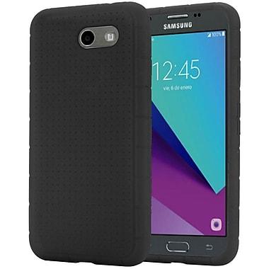 Insten Rugged Silicone Soft Skin Gel Back Cover Case For Samsung Galaxy J3 (2017) - Black