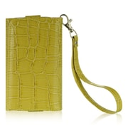 "Insten Universal Wallet-Style Carrying Case Compatible with 4"" to 5"" Smartphones, Green Crocodile"