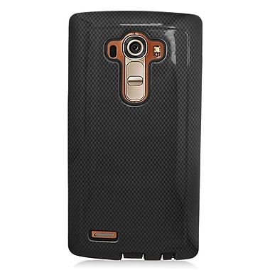 Insten Hard Dual Layer Rubber Coated Silicone Case For LG G4 - Black
