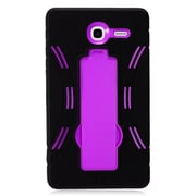 Insten Symbiosis Armor Hybrid Hard Stand Shockproof Case Back Cover For Alcatel One Touch Pop 7 - Black/Purple