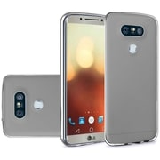 Insten Solid TPU Crystal Candy Skin Gel Rubber Back Case Cover For LG G6 - Smoke