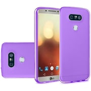 Insten Solid TPU Crystal Candy Skin Gel Rubber Back Case Cover For LG G6 - Dark Purple