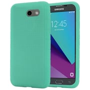 Insten Rugged Silicone Soft Skin Gel Back Cover Case For Samsung Galaxy J3 (2017) - Teal